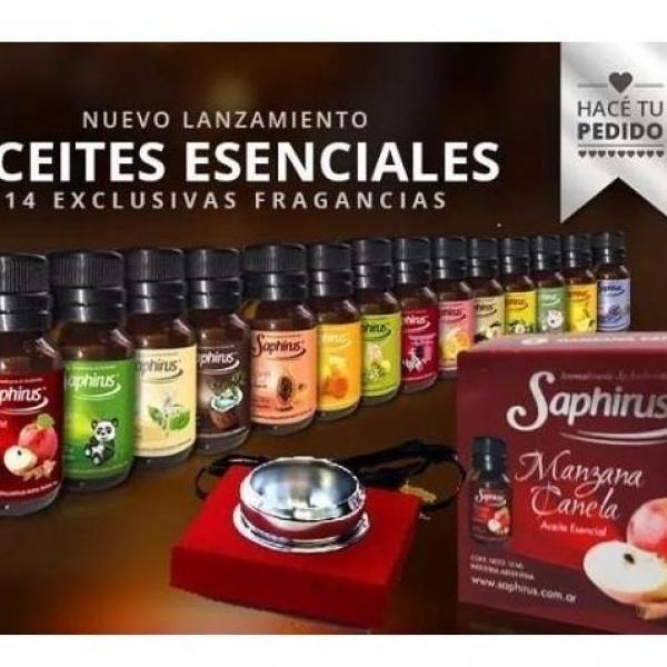 Aceites Esenciales para Hornillo 10Ml. Saphirus Varias Fragancias