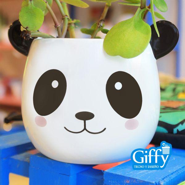 Maceta Panda Feliz
