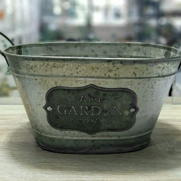Jardinera Chapa Rose Garden Mediana