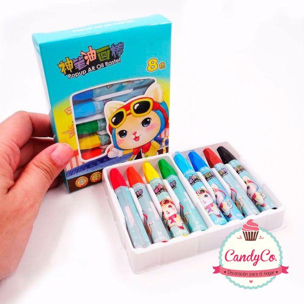 Caja de Crayones X8 Gato