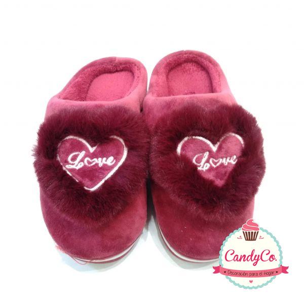 Pantuflas con Corazón Love
